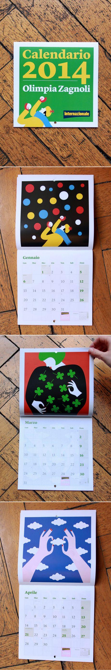 Internazionale » La stanza dei grafici » Un anno a colori #calendar #olimpiazagnoli #illustration