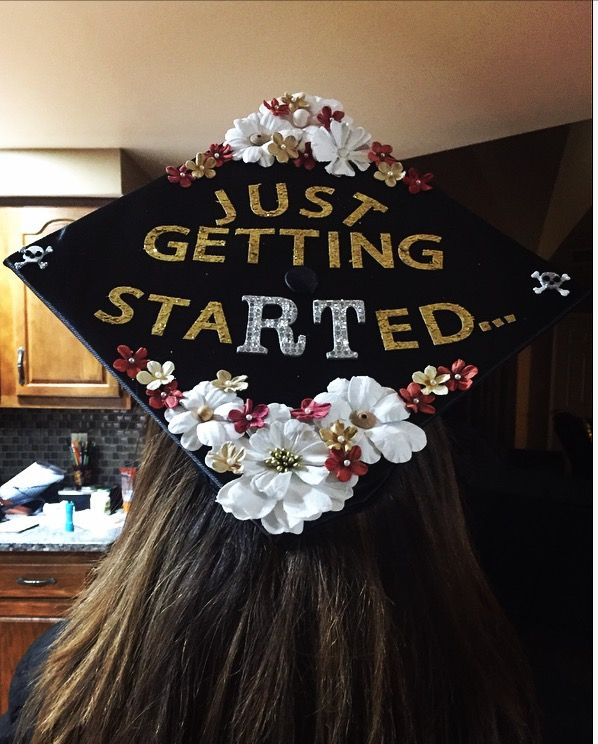 Radiologic Technology graduation cap! Could work for respiratory therapist too!