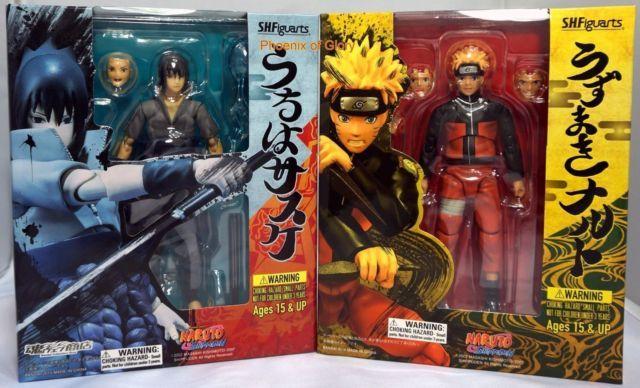 Japan Anime Naruto Uchiha Sasuke Combo Tamashii Web SH.Figuarts PVC Figure Gift