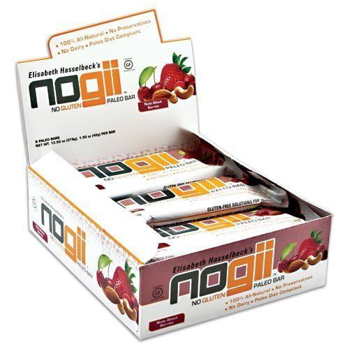 Paleo Bar, 9 - 1.5oz (42g) Bars, Nuts About Berries by NoGii