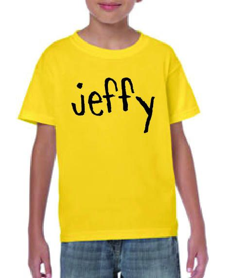 aa30d78ae696 Jeffy SML Yellow T-Shirt | Jack's Wish List | Yellow t shirt, Shirts ...