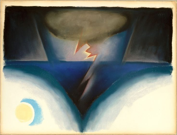 A Storm - Georgia O'Keeffe c.1922 American 1887-1986 Pastel on paper