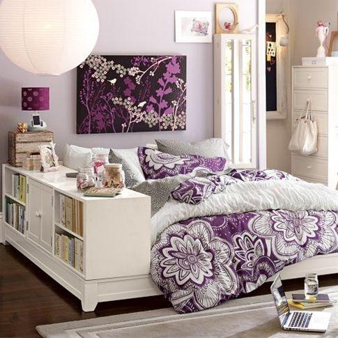 The purple bedspread:)