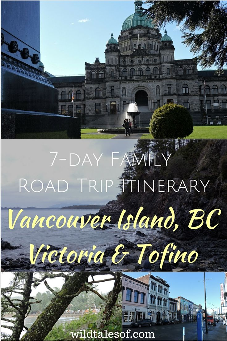 Vancouver Island Family Road Trip to Victoria & Tofino, BC with itinerary!  Activity, hiking, and restaurant recommendations for families with young kids.