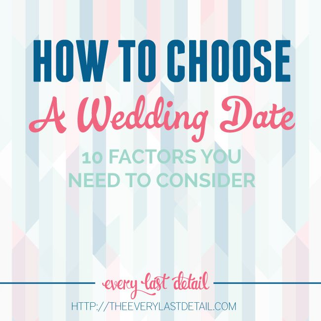how to choose a wedding date- factors that should be considered!