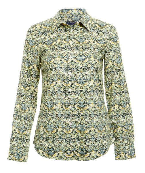 Sportscraft Liberty Fabric Button-up Long-sleeve in William Morris Pattern