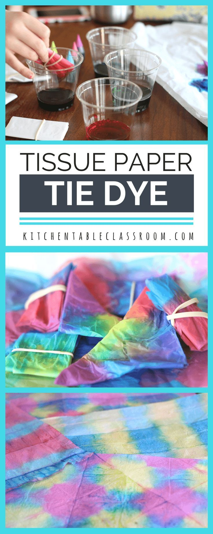 c32c60fe7bc3 Tie is always a huge hit at our house but the mess...not so much. Try this  tissue paper dye using liquid food coloring. Beautiful colors and awesome  ...