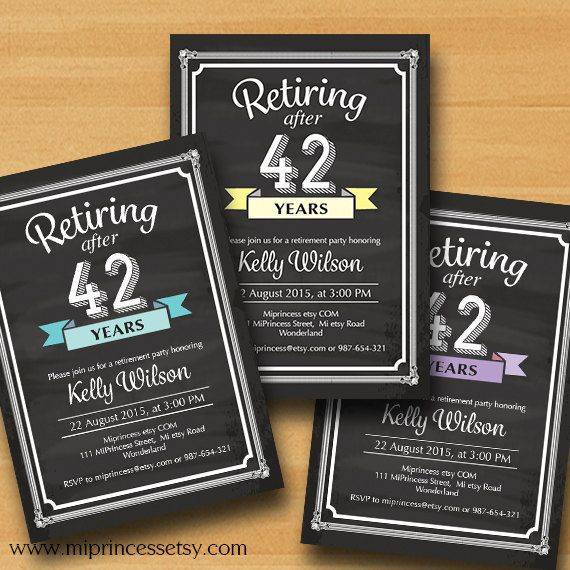 Retirement Invitations  Retirement party Invitation  by miprincess