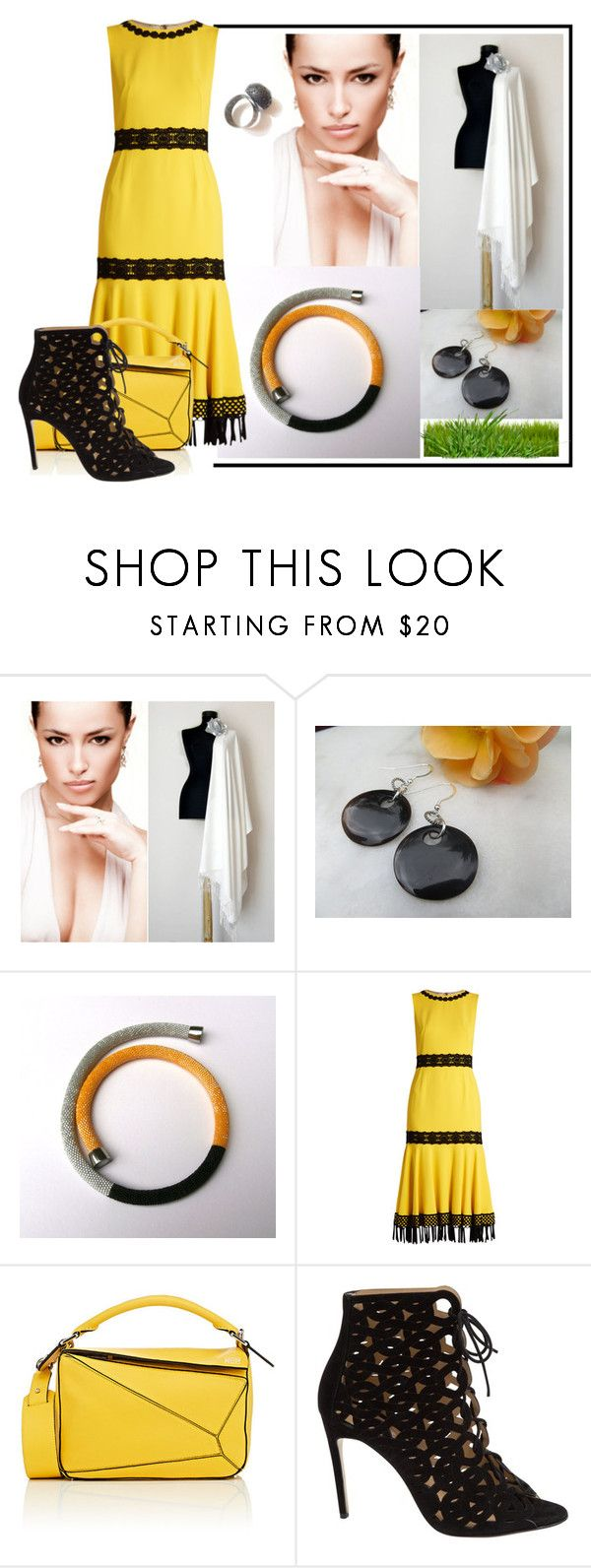 """""""Yellow & Silver #11"""" by colchico ❤ liked on Polyvore featuring Dolce&Gabbana, Loewe and Bionda Castana"""