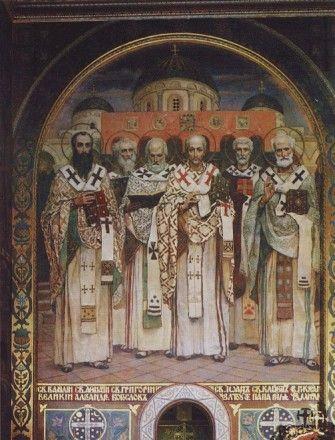 Виктор Васнецов  Собор святителей Вселенской церкви примерно 1885—1896 года Холст, масло