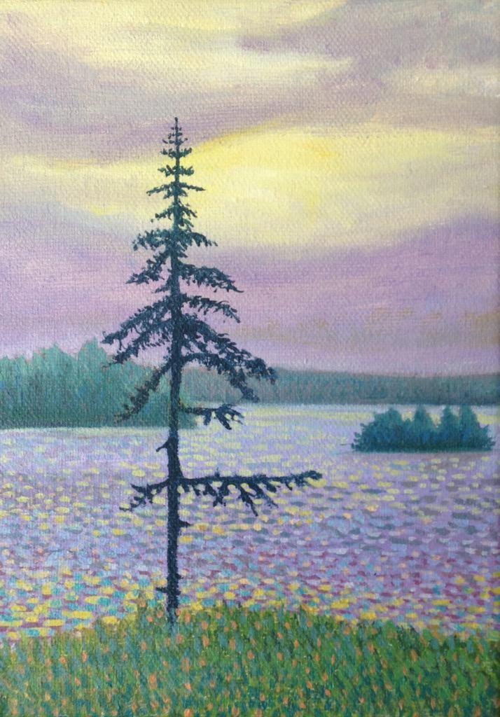 Found Lake, Algonquin 2015 Oil 7 x 5 @ontrails @Mark_Sanche @Algonquin_PP @algonquinoutfit @AlgonquinArt @AllArtNow