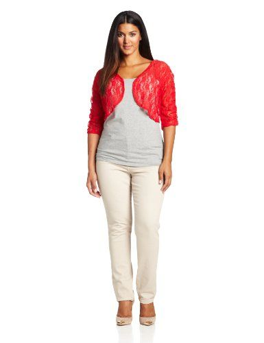 Star Vixen Women's Plus-Size Rouched Sleeve Bolero Sweater *** Check this aw…
