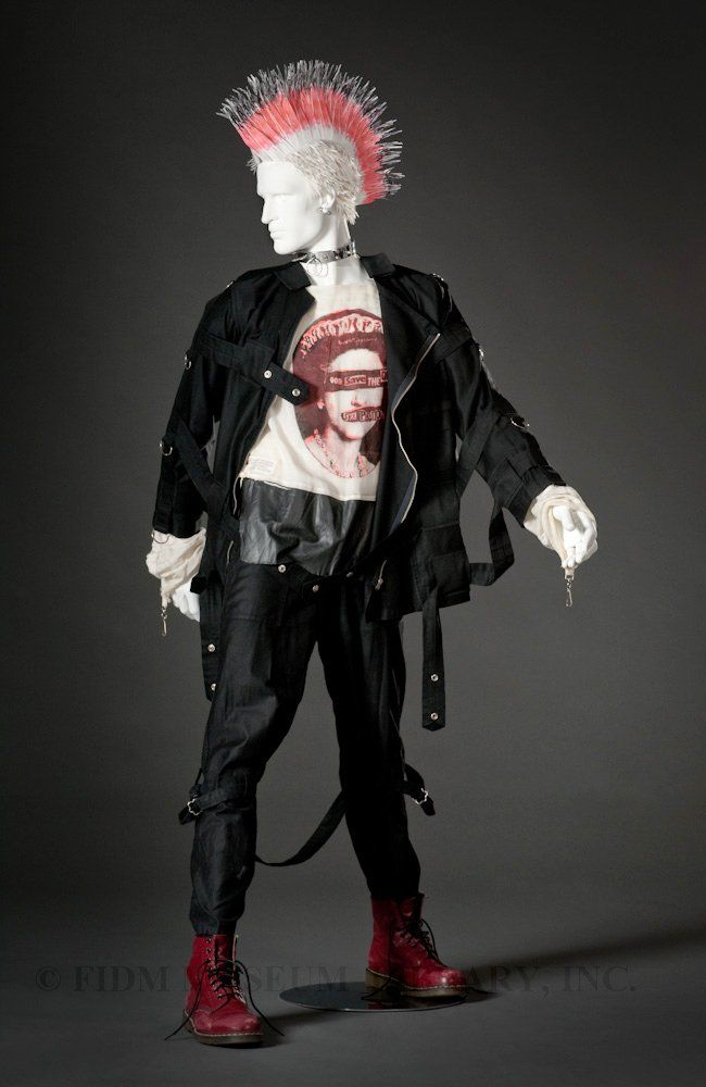 Jacket and Shirt, ca. 1976-1980, Malcolm McLaren and Vivienne Westwood, Seditionaries Personal Collection. Pants, ca. 1974-1975, Malcolm McLaren & Vivienne Westwood, Sex Original
