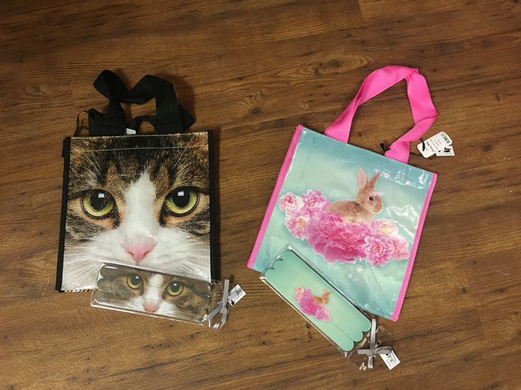 Super cute carriers with matching accessories.