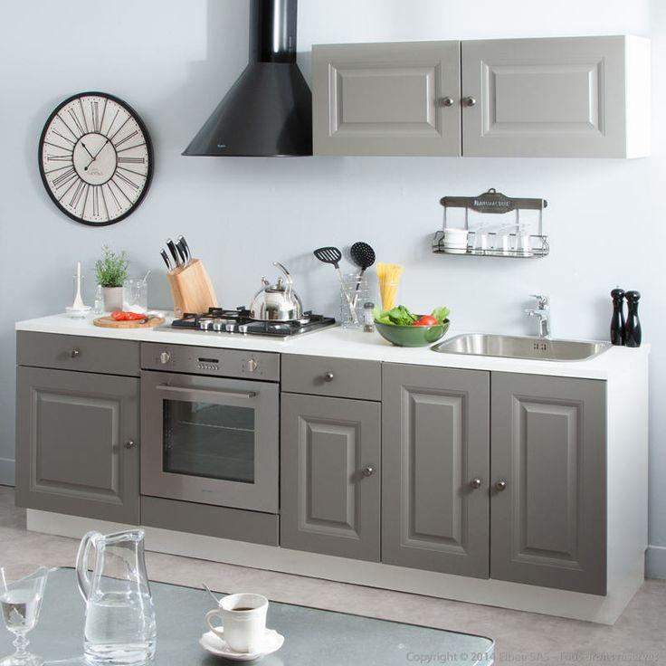 finest cuisine amnage balzac longueur cm avec moulures sur faades prix promo cuisine amnage. Black Bedroom Furniture Sets. Home Design Ideas