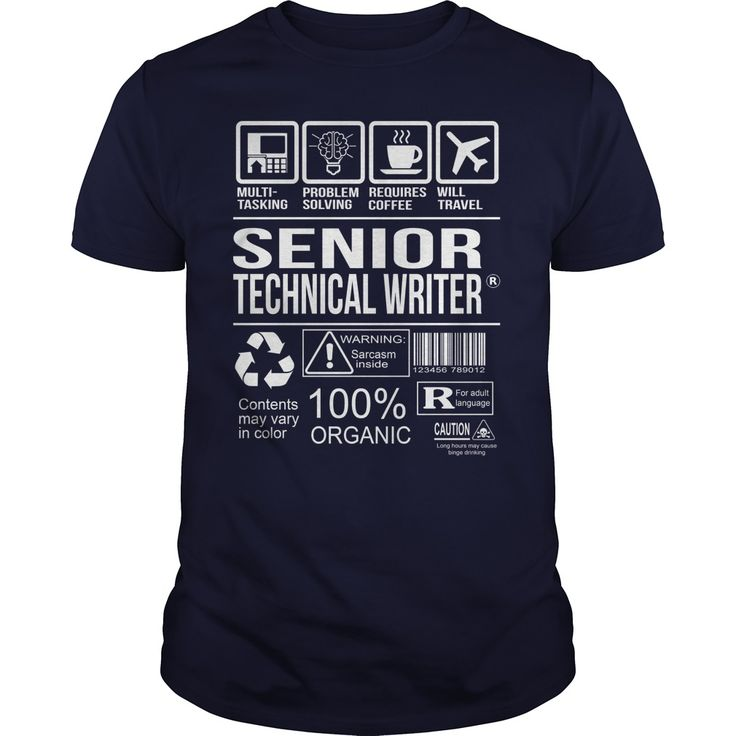 Awesome Shirt For Senior Technical Writer T-Shirts, Hoodies. Get It Now ==► https://www.sunfrog.com/LifeStyle/Awesome-Shirt-For-Senior-Technical-Writer-Navy-Blue-Guys.html?id=41382