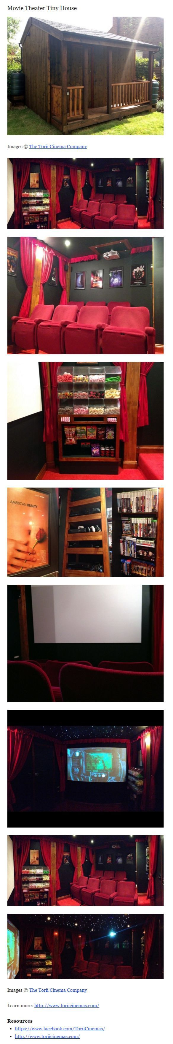 Movie Theater Tiny House #ThisIsAwesome #Iwantone #UBHOMETEAM