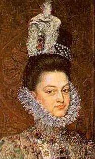 АЛОНСО САНЧЕС КОЭЛЬО.портрет Инфанты Изабелла Клара Евгения с карлицей Магдаленой Руис (фрагмент)