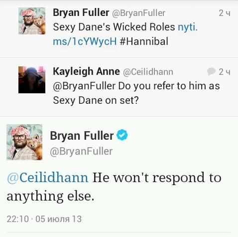 What Mads Mikkelsen responds to. CAN'T STOP LAUGHING