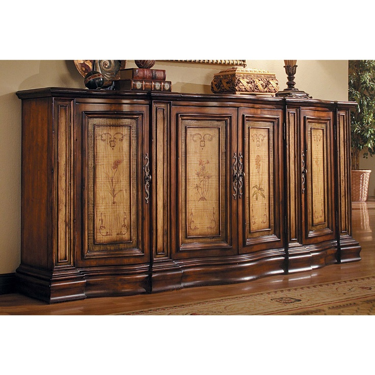 Nice Hooker Furniture Seven Seas Four   Door Two   Tone Shaped Credenza