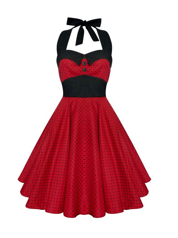 Lady Mayra Ashley Polka Dot Dress Vintage Rockabilly Pin Up 1950s Retro Style Gothic Lolita Swing Party Halloween Prom Plus Size Clothing by ladymayraclothing. Explore more products on http://ladymayraclothing.etsy.com