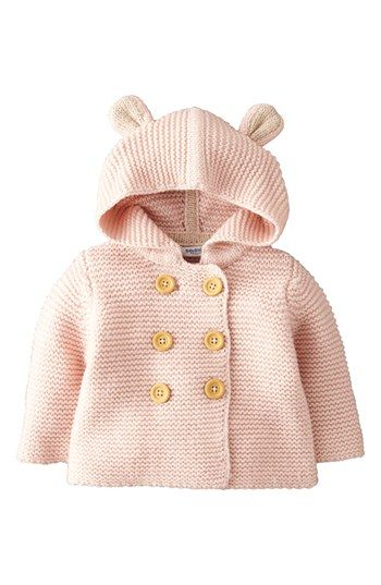 Mini Boden Hooded Jacket (Baby Girls) available at #Nordstrom. duck egg color (minty green).