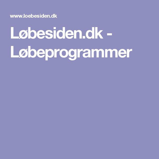 Løbesiden.dk - Løbeprogrammer