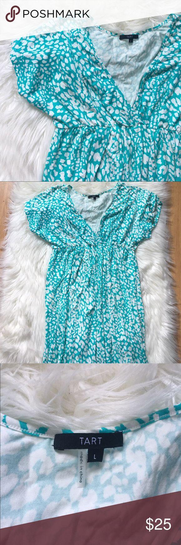 ASOS Teal Cheetah Print Dress Brand new condition! No flaws at all. NO TRADES PLEASE ASOS Dresses Midi