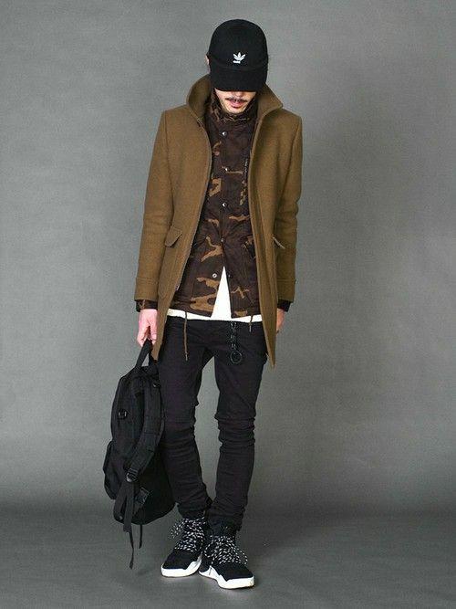 LOUNGE LIZARDのステンカラーコート「SUPER 100's W CLOTH MELTON ステンカラーコート」を使ったSessionLoungeLizard(LOUNGE LIZARD)のコーディネートです。WEARはモデル・俳優・ショップスタッフなどの着こなしをチェックできるファッションコーディネートサイトです。