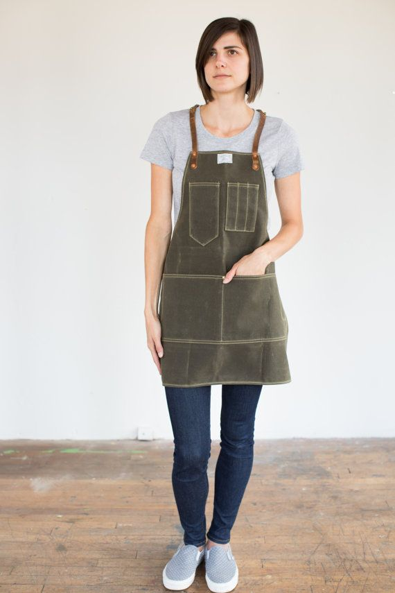 I begin every workday at the shop by putting on my No. 325 Artisan Apron. It's saved my clothing from countless stains that would have decommissioned them to shop rags. Its pocket configuration enables me to have my most essential tools accessible at all times.  Two Styles:  1. Leather Neck and Waist Strap ($145 USD)  2. Y-Strap – Distributes apron / tool weight evenly across the shoulders ($168 USD) Two Sizes: 1. Regular - Canvas dimensions 29 tall and 29 wide. Fits 31 to 38 hip (see…