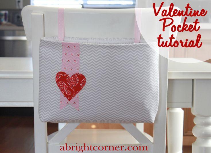 Free Sewing Pattern - Valentine Pocket Tutorial