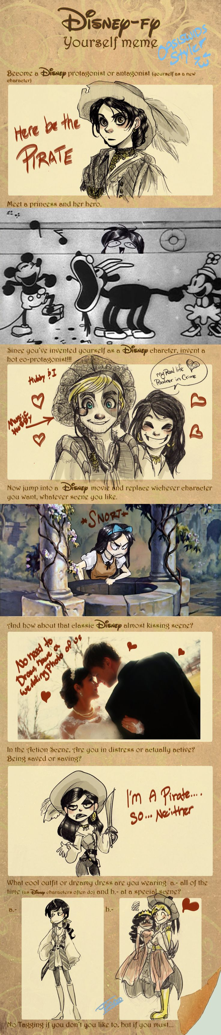 disney-fy yourself meme Oasiswinds by oasiswinds on DeviantArt <-- ok, yes, I'm obsessed with these..