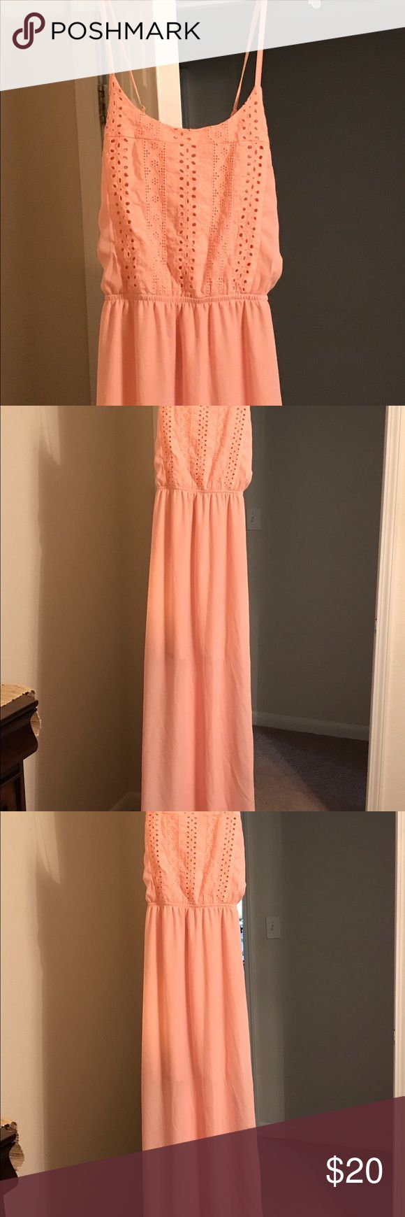 peachy/coral sundress in excellent condition. Peachy/coral sundress size large.Excellent condition. Non smoking home. Dresses Maxi