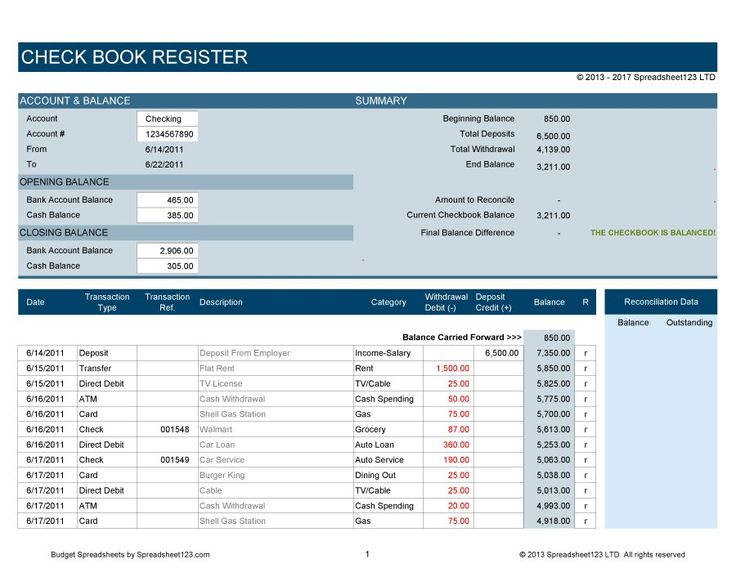 free check register software