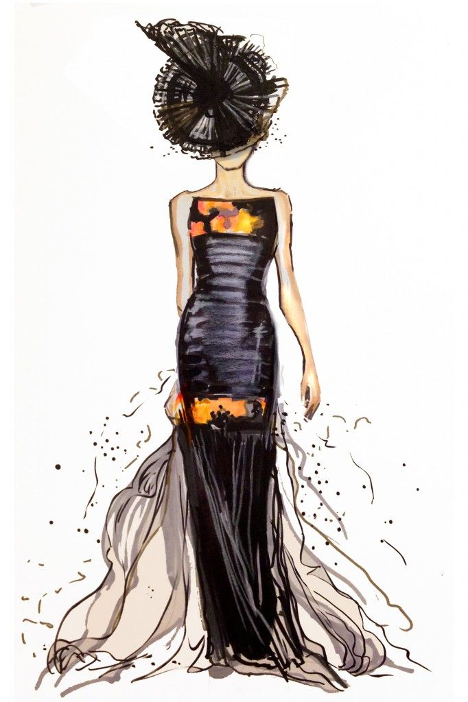 ArmaniForever- For Armani official Facebook  / 9 x 12 Illustration by Jessica Rae Sommers