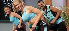 On the Set of In Shape with Sharon Mann! A highlight of my fitness career