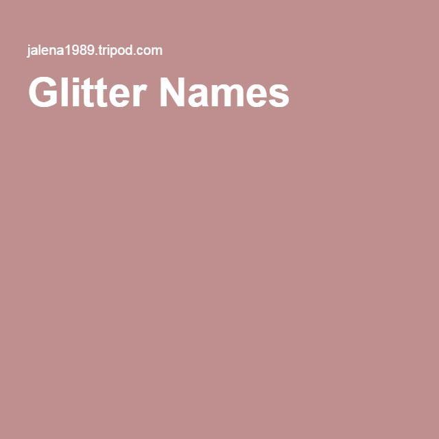 Glitter Names