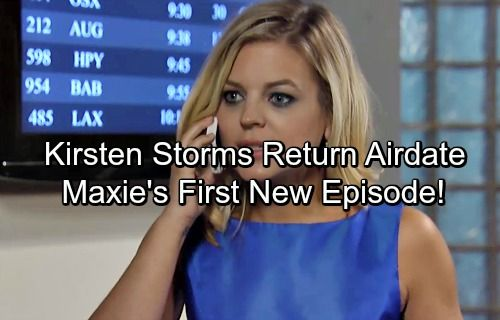 General Hospital Spoilers: Kirsten Storms Return Airdate Revealed – Maxie Gives Nathan a Wonderful Surprise | Celeb Dirty Laundry