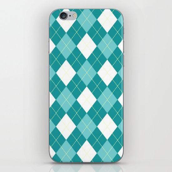 Argyle Blue iPhone & iPod Skin