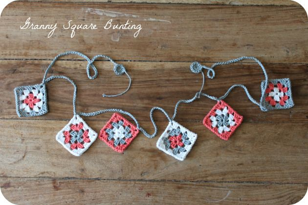granny square bunting ~ free pattern