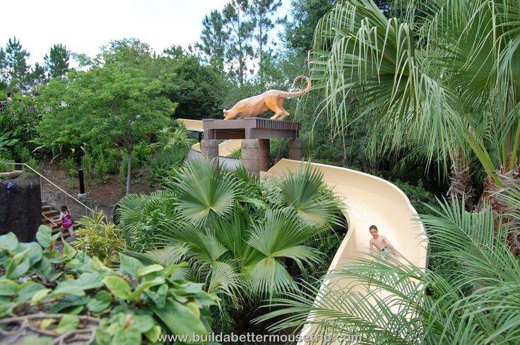 Disney World Hotel Pools - The water slide at Disney's Coronado Springs Resort.   For more resort photos & information, see: http://www.buildabettermousetrip.com/disneys-coronado-springs