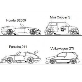 Modified Cars dwg