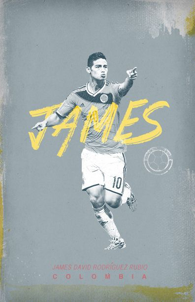 World Cup 2014 by Cristina Martinez, via Behance James Rodriguez Colombia