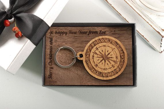 COMPASS ROSE  ready to give gift box personalized by MoodForWood