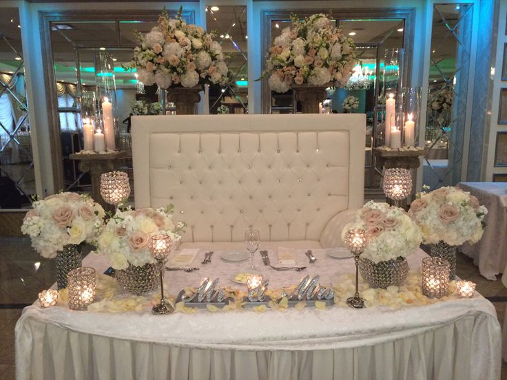 Bride/groom Table~ Amaryllis Event Decor Northvale, NJ