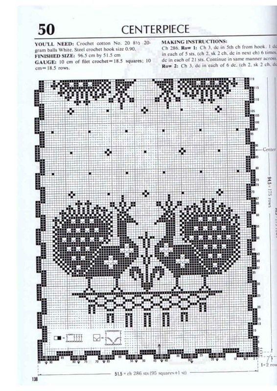 794 best caminos de mesa images on Pinterest   Crocheting, Doilies ...