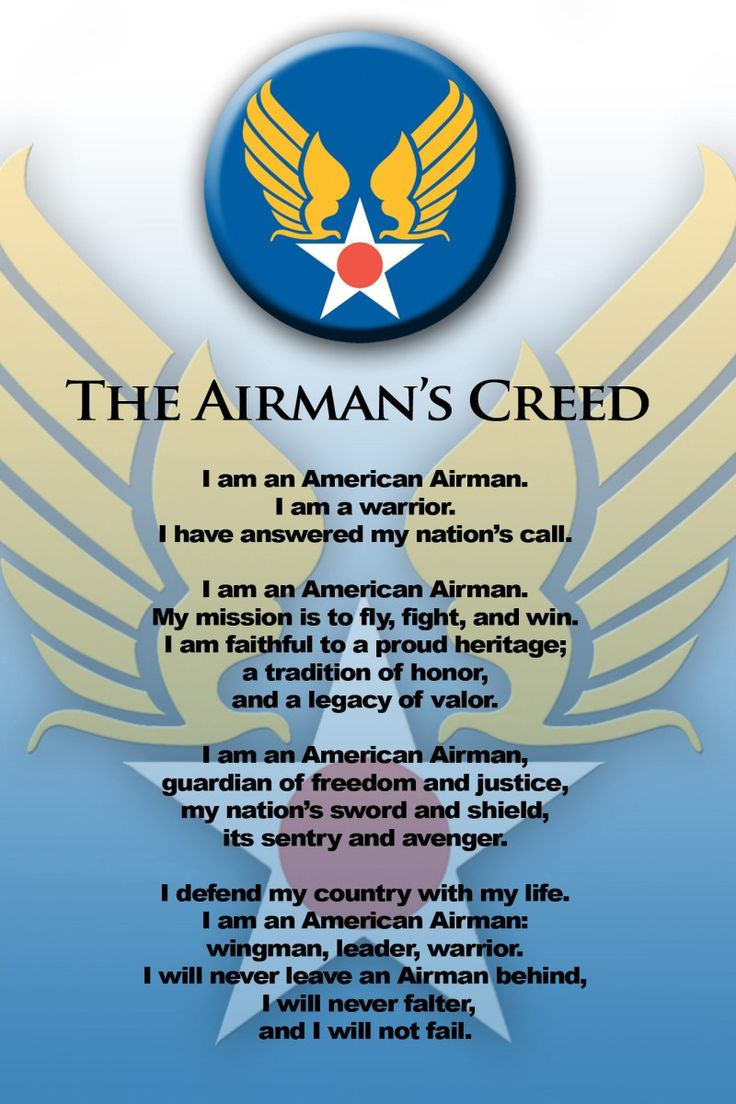 us airforce creed | The Airmans Creed - My Air Force Years