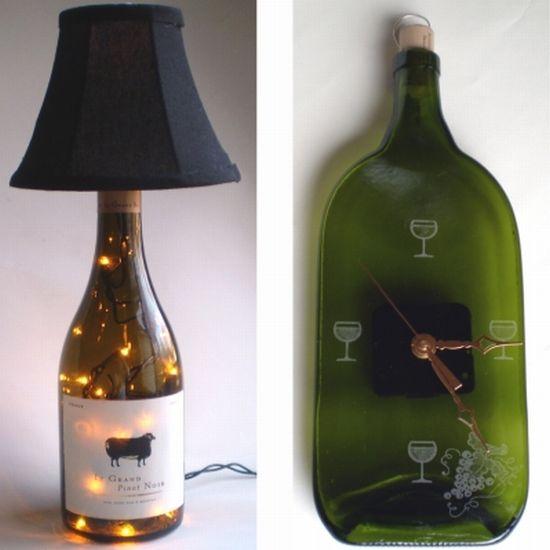 67 best crafts bottle art images on pinterest decorated for Ideas for old wine bottles