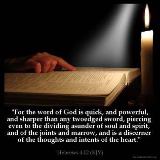 Inspirational Image for Hebrews 4:12