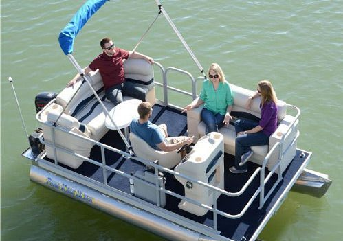 The Pond King Lil' Cruiser is the perfect pontoon boat for leisure cruising. Exceptional comfort with ample room for friends and family. Order yours today!